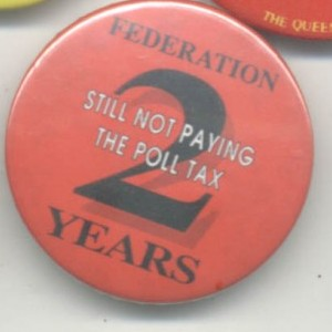 Poll Tax 2 years and still not paying