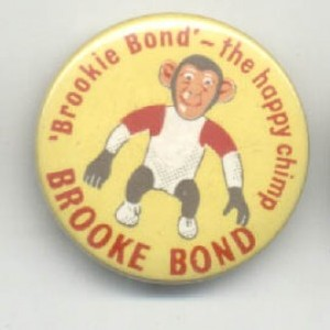 Brooke Bond Brookie Bond The Happy Chimp from the Badge