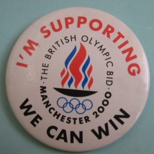 I M Supporting Manchester 2000 Olympic Games Bid From The Badge Collectors Circle Archive