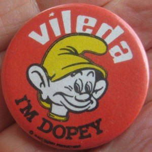 Vileda cleaning products I'm Dopey Disney badge